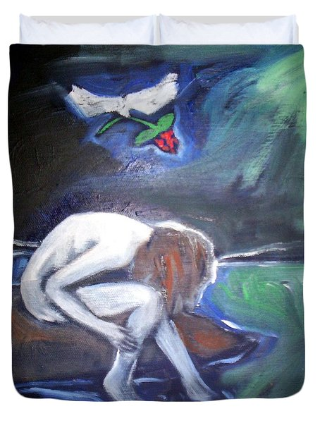 Duvet Cover featuring the painting Hope  by Winsome Gunning