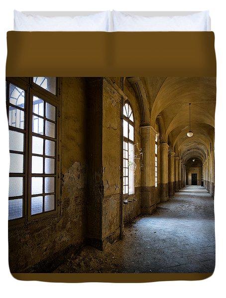 Hopelessly In Hope - Abandoned Mental Institution Duvet Cover by Dirk Ercken