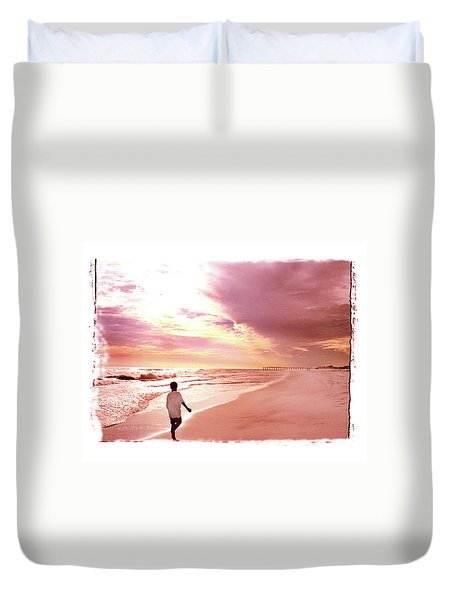 Duvet Cover featuring the photograph Hope's Horizon by Marie Hicks