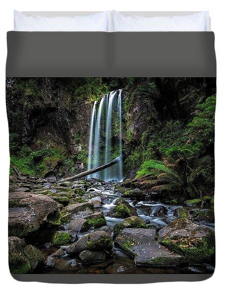 Hopetoun Falls Duvet Cover by Mark Lucey