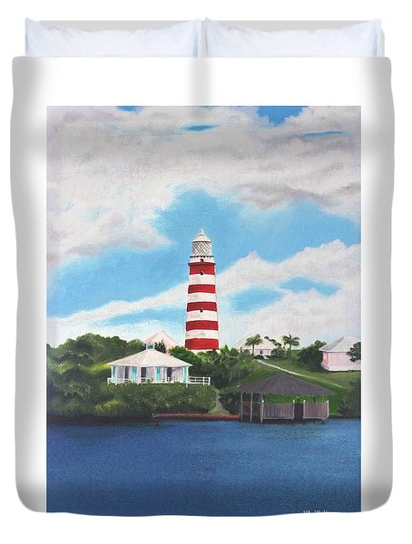 Hopetown Lighthouse Number Two Duvet Cover