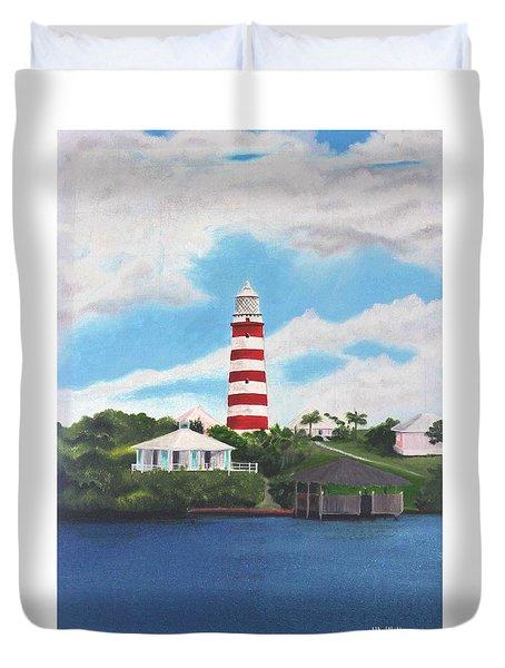 Hopetown Lighthouse Number Two Duvet Cover