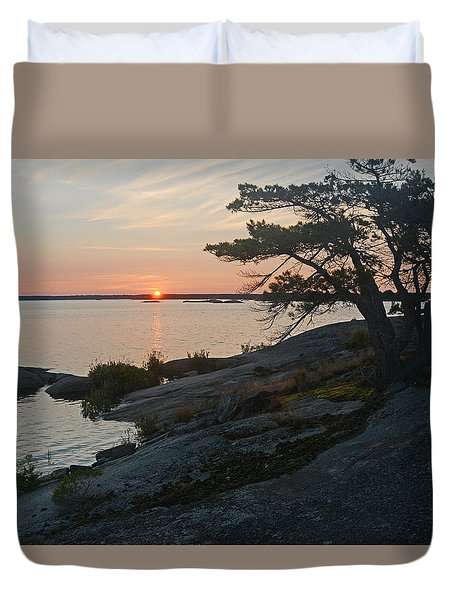 Hopewell Bay Island Sunrise1 Duvet Cover