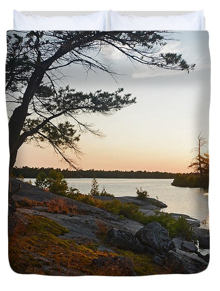 Hopewell Bay Island Wild Grass Sunset-1 Duvet Cover