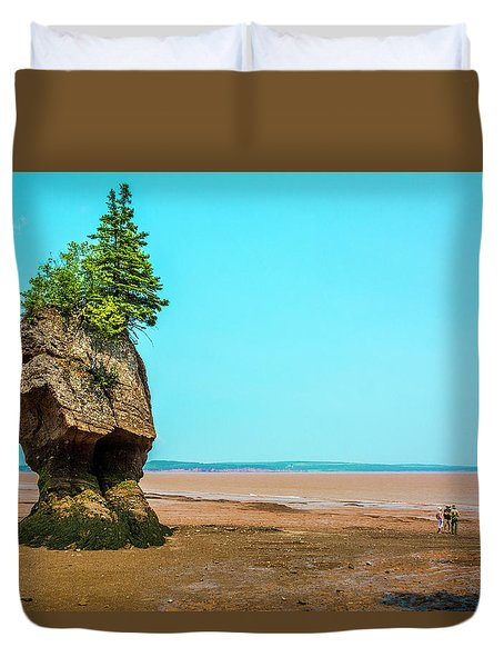 Hopewell Rocks In New Brunswick -  Canada Duvet Cover