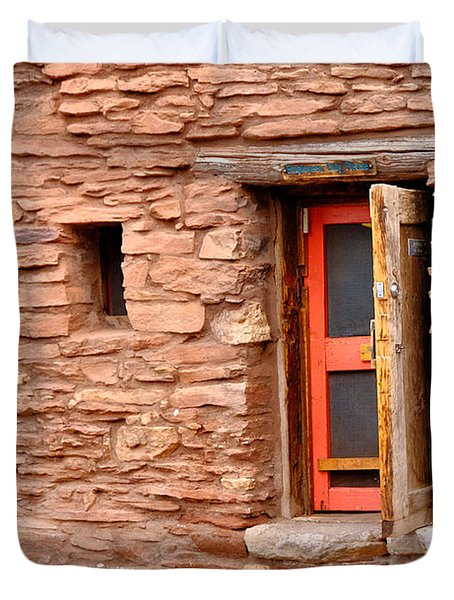 Hopi House Door Duvet Cover by Julie Niemela