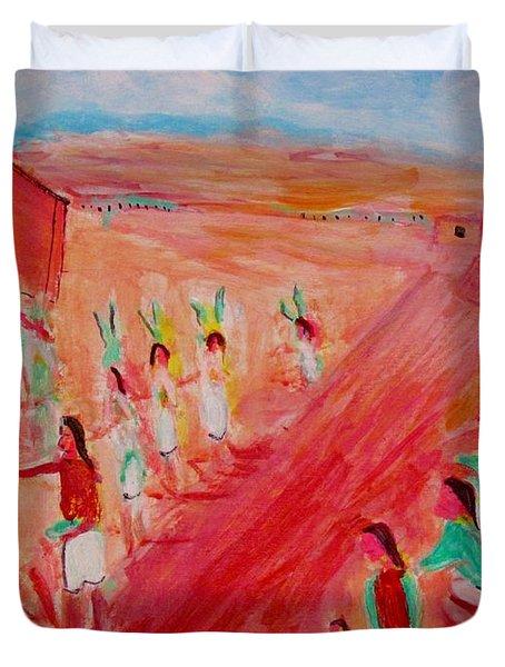 Hopi Indian Ritual Duvet Cover