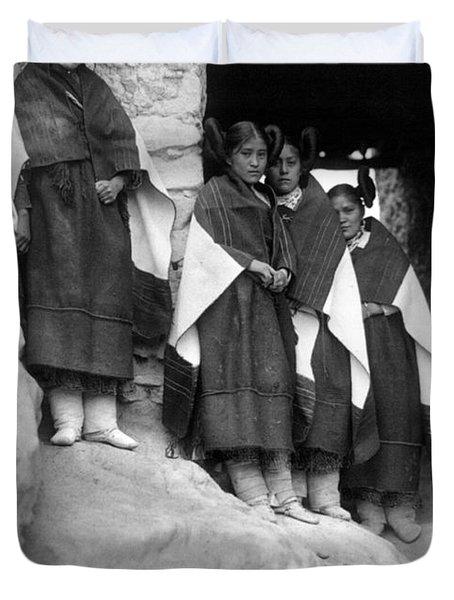 Hopi Maidens, 1906 Duvet Cover