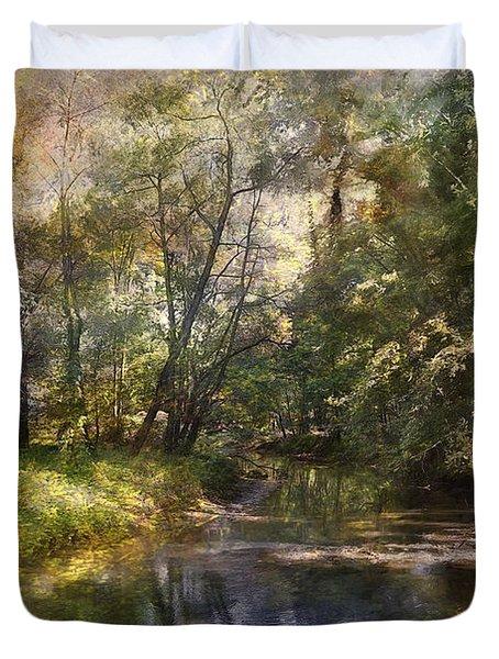 Hopkins Pond, Haddonfield, N.j. Duvet Cover
