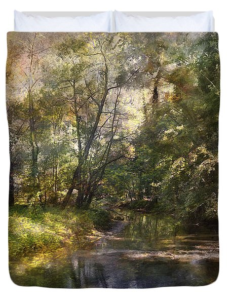 Duvet Cover featuring the photograph Hopkins Pond, Haddonfield, N.j. by John Rivera
