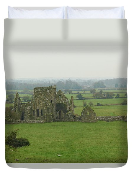 Duvet Cover featuring the photograph Hore Abbey by Marie Leslie