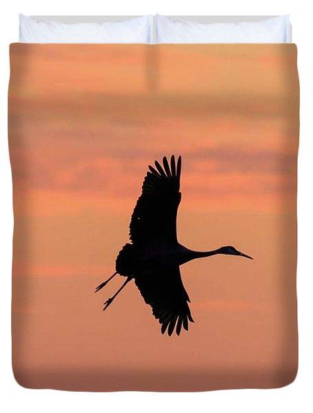 Horicon Marsh Cranes #3 Duvet Cover