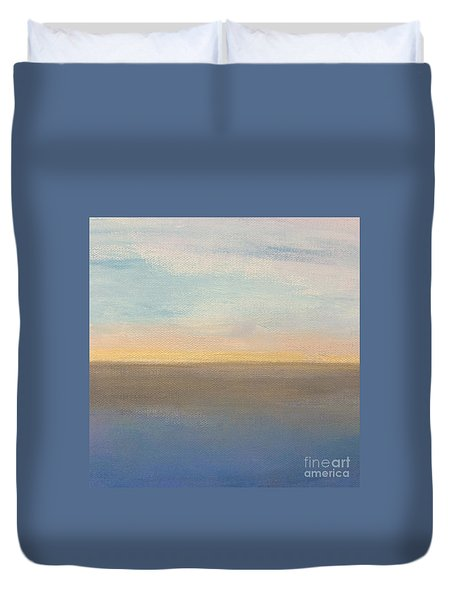 Horizon Aglow Duvet Cover by Kim Nelson