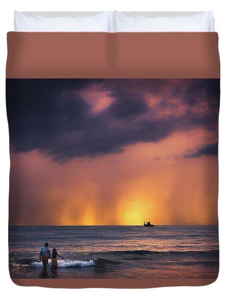 Horizon Duvet Cover by Marji Lang