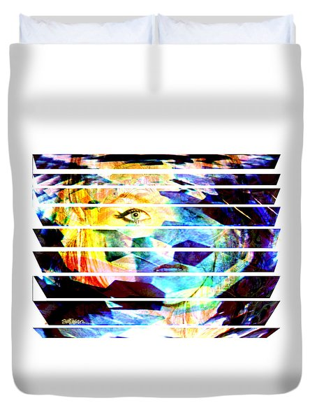 Duvet Cover featuring the digital art Horizontal View by Seth Weaver