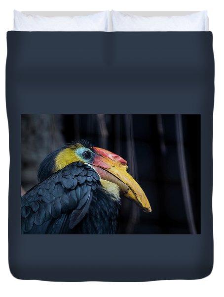 Duvet Cover featuring the photograph Hornbilled Bird by Scott Lyons