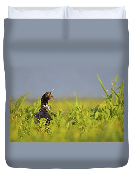 Horned Screamer Duvet Cover