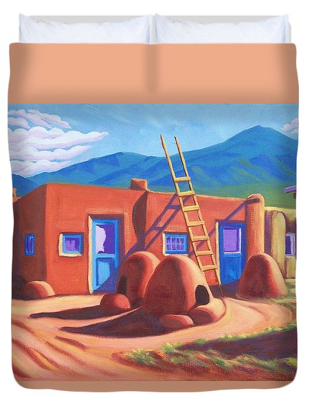 Horno De Pan Taos Duvet Cover