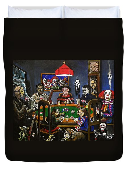 Horror Card Game Duvet Cover