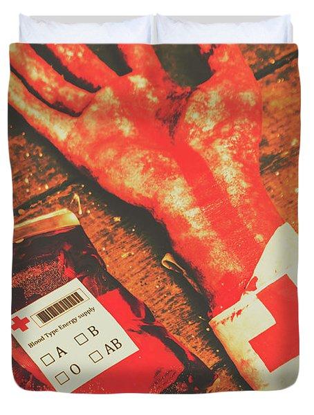 Horror Hospital Scenes Duvet Cover
