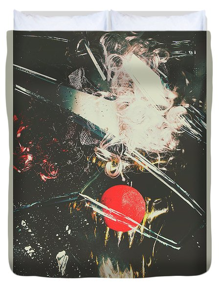 Horror House Of Mirror Duvet Cover
