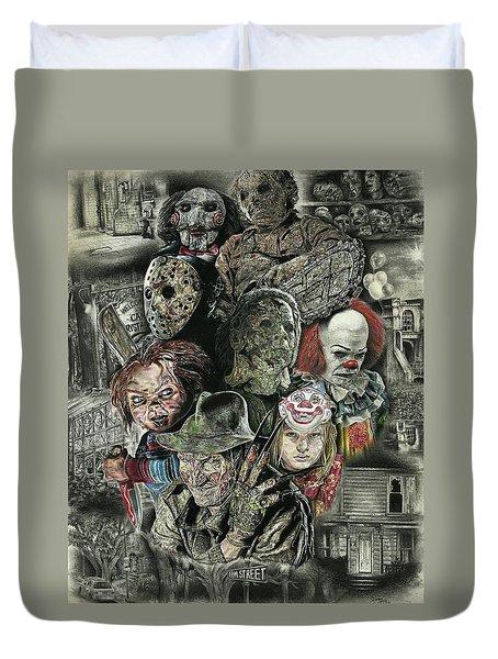Horror Movie Murderers Duvet Cover