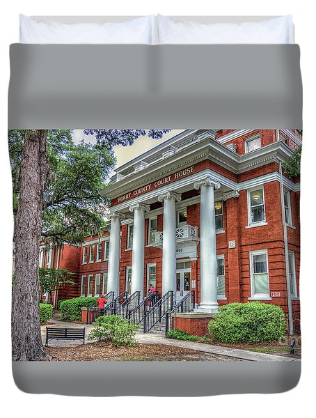 Horry County Court House Duvet Cover