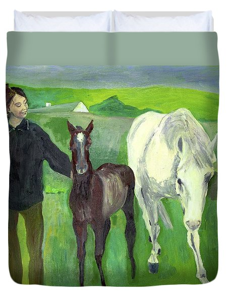 Horse And Foal Duvet Cover