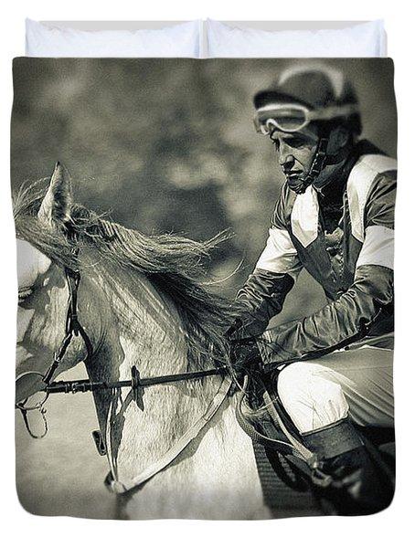 Horse And Jockey Duvet Cover