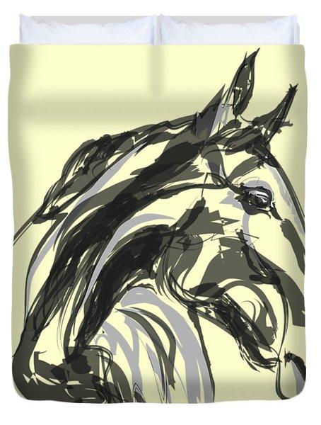horse - Apple digital Duvet Cover