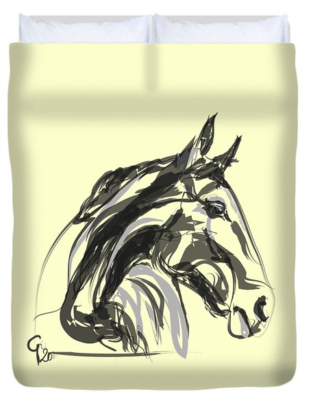 horse - Apple digital Duvet Cover
