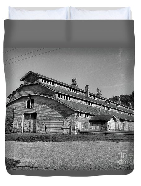 Horse Barn Exited Duvet Cover