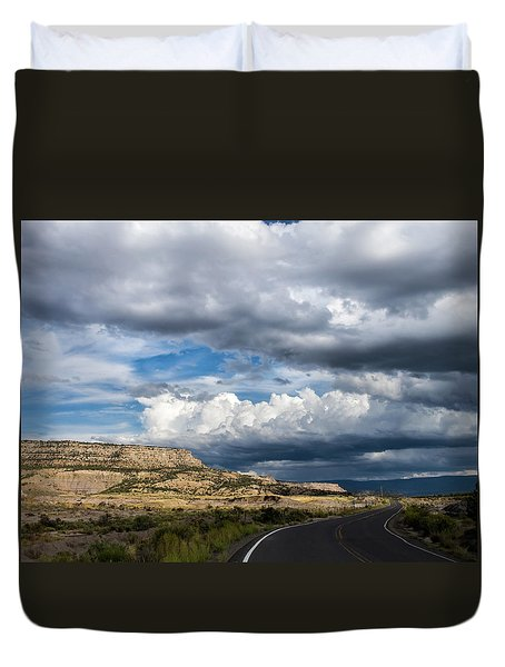Duvet Cover featuring the photograph Horse Canyon By De Beque Colorado by Nadja Rider