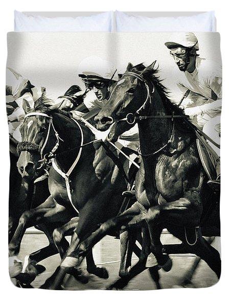 Horse Competition Vi - Horse Race Duvet Cover