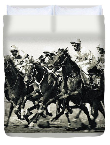 Horse Competition Vi - Horse Race Duvet Cover