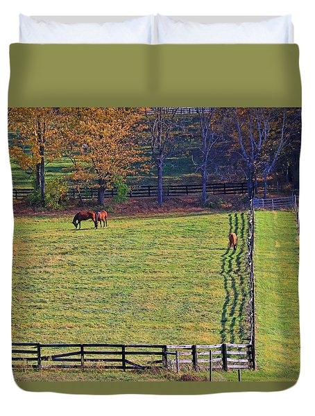 Horse Country # 2 Duvet Cover