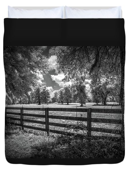 Duvet Cover featuring the photograph Horse Country by Louis Ferreira