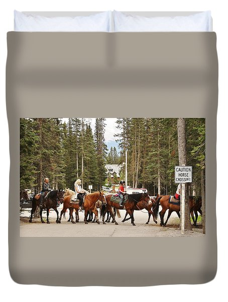 Horse Crossing Duvet Cover