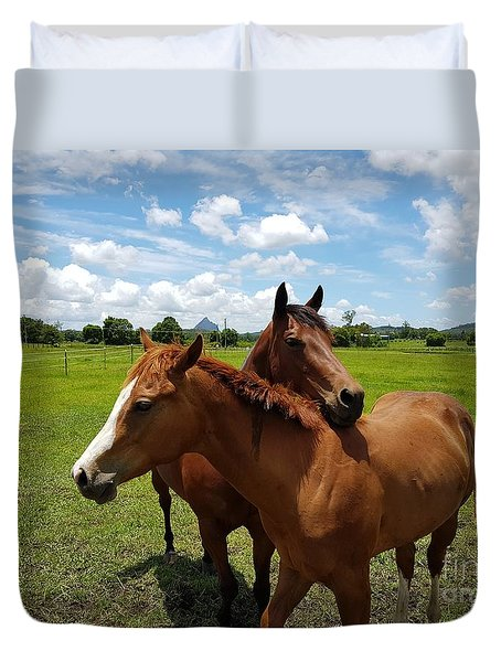 Horse Cuddles Duvet Cover
