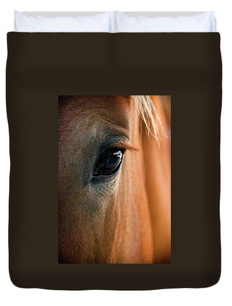 Horse Eye Duvet Cover