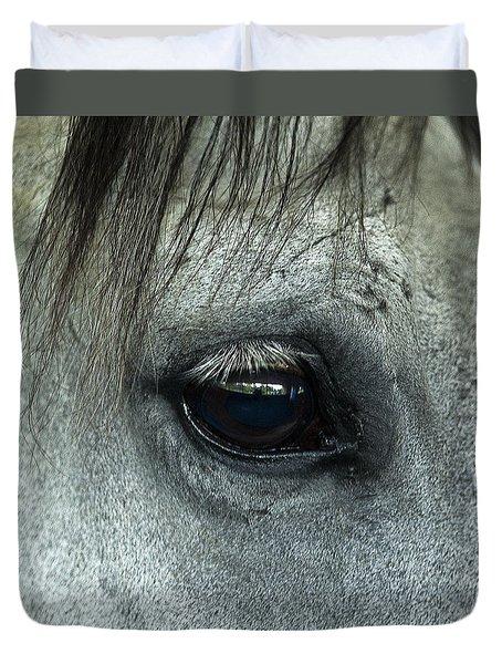 Horse Eye Duvet Cover by John Greim