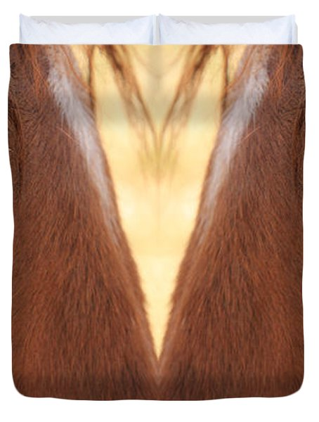 Horse Eyes Love Duvet Cover by James BO  Insogna
