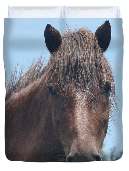 Horse Face Duvet Cover