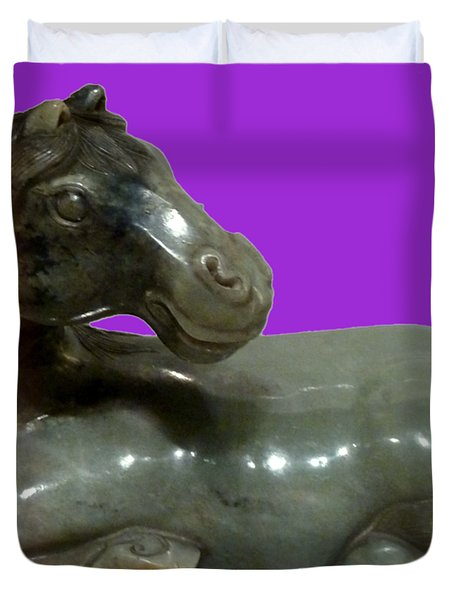 Horse Figure Duvet Cover