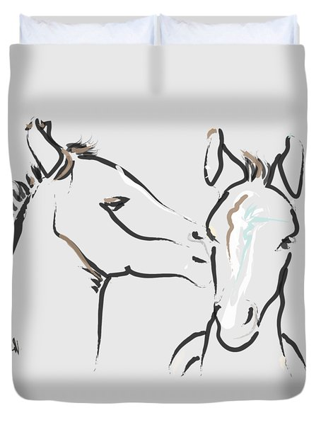 Horse-foals-together 6 Duvet Cover