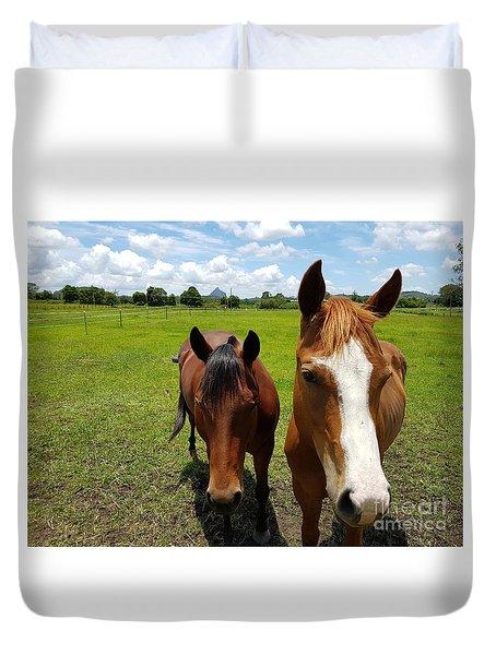 Horse Friendship Duvet Cover
