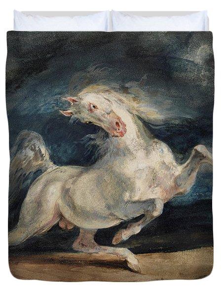 Horse Frightened By Lightning  Duvet Cover
