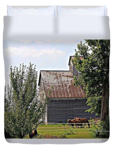 Horse Haven Duvet Cover