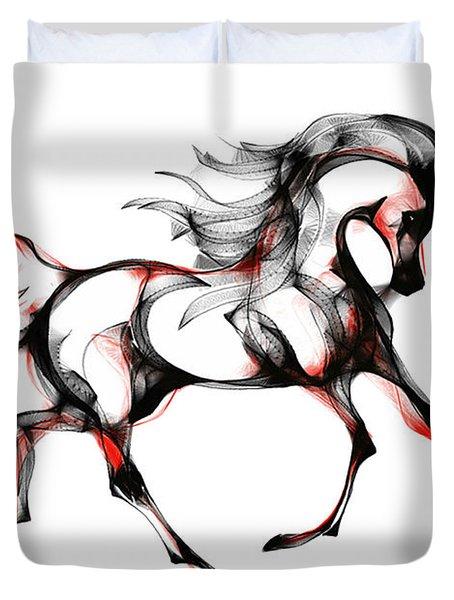 Horse In Extended Trot Duvet Cover