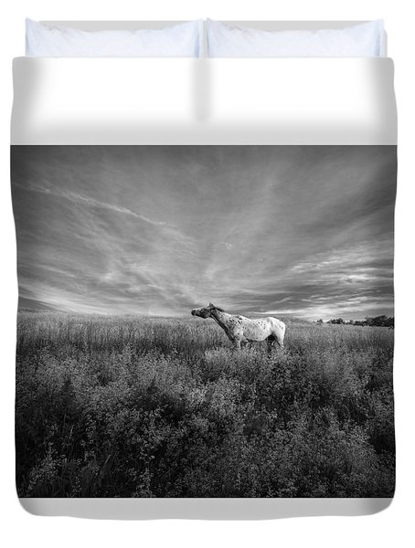 Horse In Field I Duvet Cover